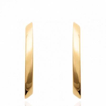 Boucles d'oreilles femme plaqué or Shel