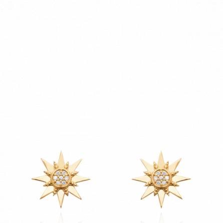 Boucles d'oreilles femme plaqué or Sielta