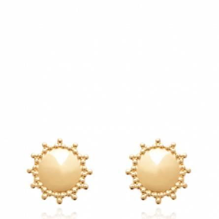 Boucles d'oreilles femme plaqué or Soledas