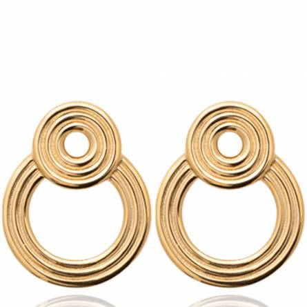 Boucles d'oreilles femme plaqué or Sveltana ronde