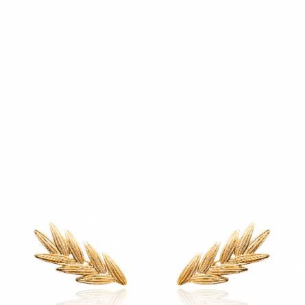 Boucles d'oreilles femme plaqué or Tacita