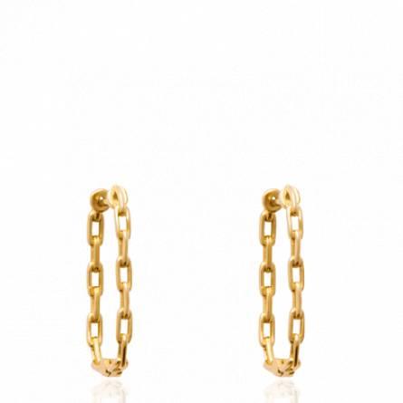 Boucles d'oreilles femme plaqué or Thidin créoles