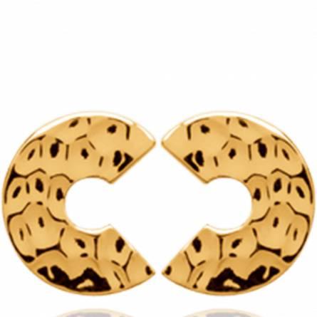 Boucles d'oreilles femme plaqué or Thilya arrondie