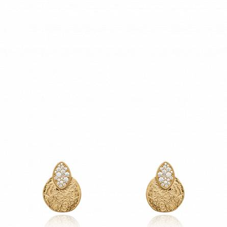 Boucles d'oreilles femme plaqué or Tiralya ronde