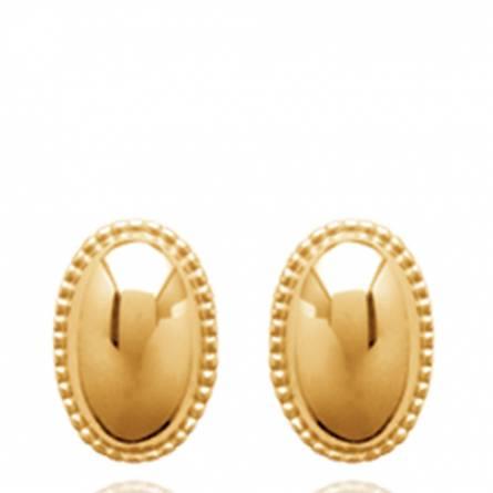 Boucles d'oreilles femme plaqué or Tyvy