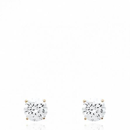 Boucles d'oreilles femme plaqué or Ursia