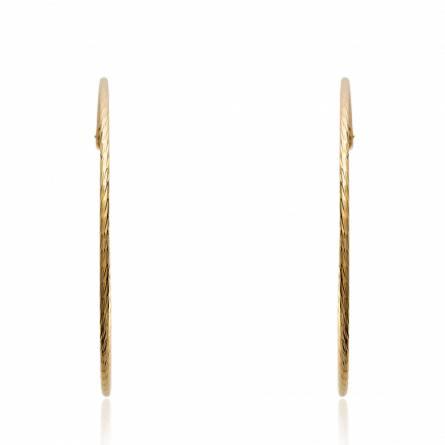 Boucles d'oreilles femme plaqué or Vaelia ronde