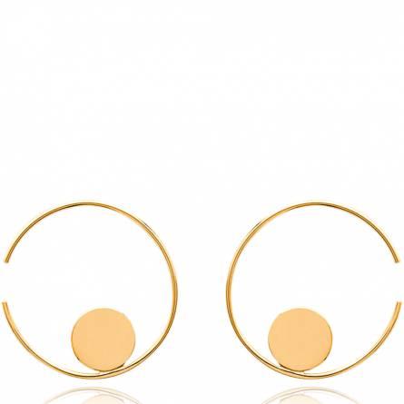 Boucles d'oreilles femme plaqué or Valéry créoles