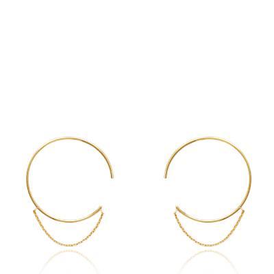 Boucles d'oreilles femme plaqué or Valentine créoles