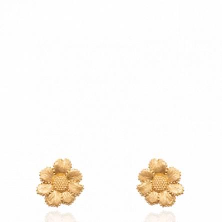 Boucles d'oreilles femme plaqué or Vasieta