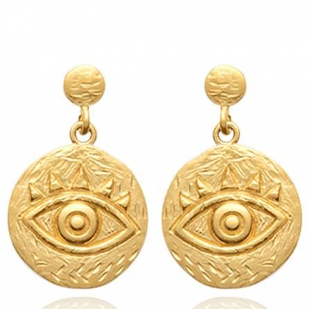 Boucles d'oreilles femme plaqué or Vinaca ronde