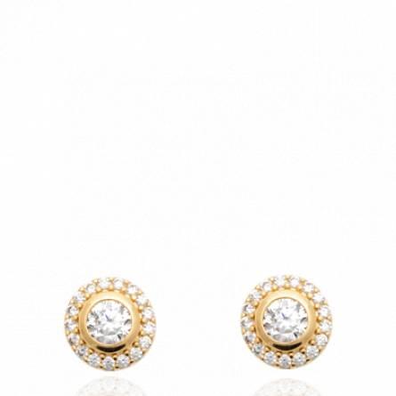 Boucles d'oreilles femme plaqué or Vitya ronde