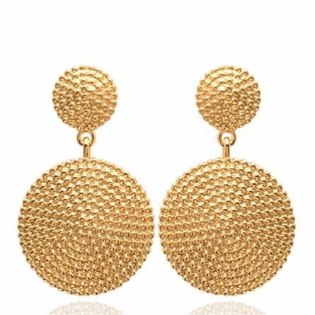 Boucles d'oreilles femme plaqué or Voleris ronde