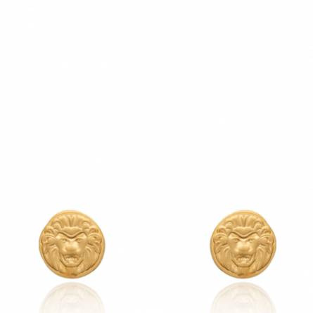 Boucles d'oreilles femme plaqué or Wilona ronde