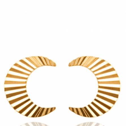 Boucles d'oreilles femme plaqué or Wynn demi lune