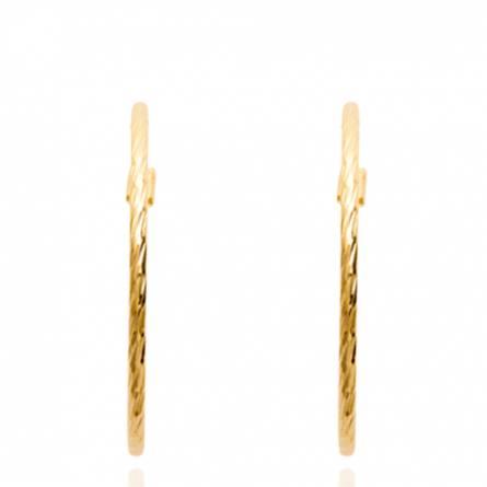 Boucles d'oreilles femme plaqué or Xeliana ronde