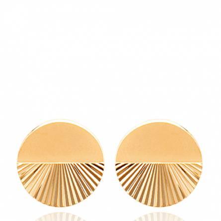 Boucles d'oreilles femme plaqué or Xylielle ronde