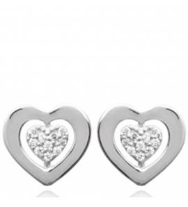 Boucles d'oreilles femme Tesa coeur