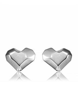 Boucles d'oreilles heart acier