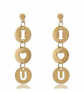 Boucles d'oreilles I love you