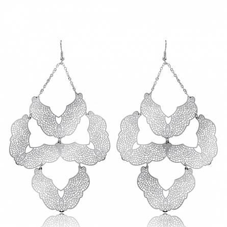 Boucles d'oreilles métal nénuphar Maratys