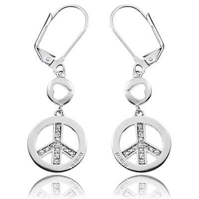 Boucles d'oreilles Morgan Peace strass