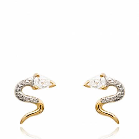 Boucles d'oreilles oasis serpenté