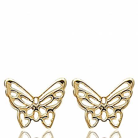 Boucles d'oreilles Papillon Etincelant