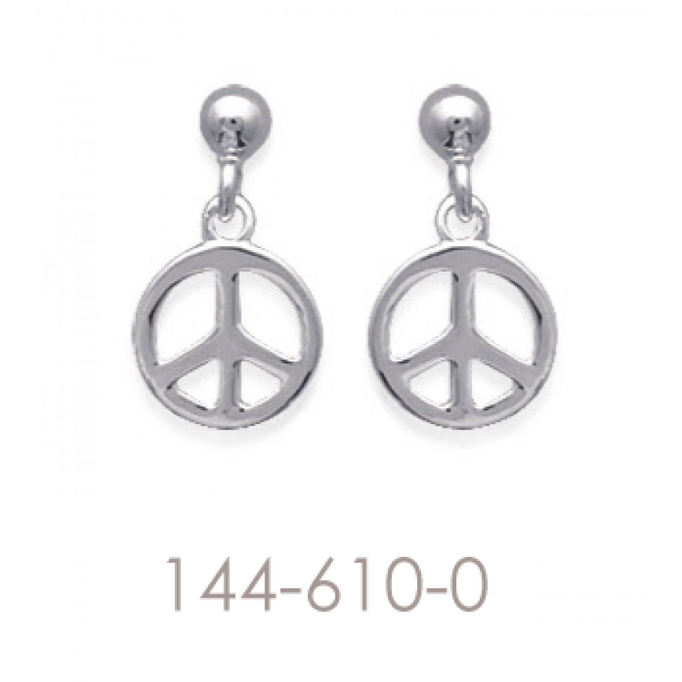 Boucles d 39 oreilles peace femme peace and love 2 argent - Boucle d oreille peace and love ...