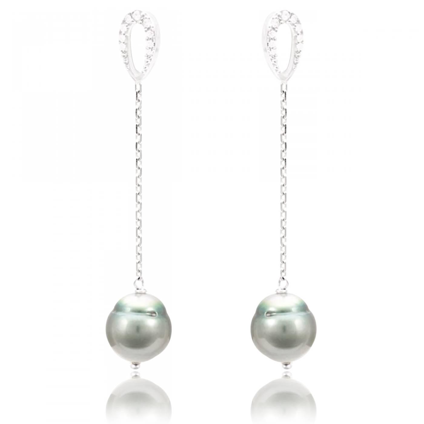 boucles d 39 oreilles femme lanu argent perle perle de tahiti. Black Bedroom Furniture Sets. Home Design Ideas