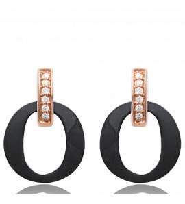 Boucles d'oreilles plaqué Or Céramique Léa