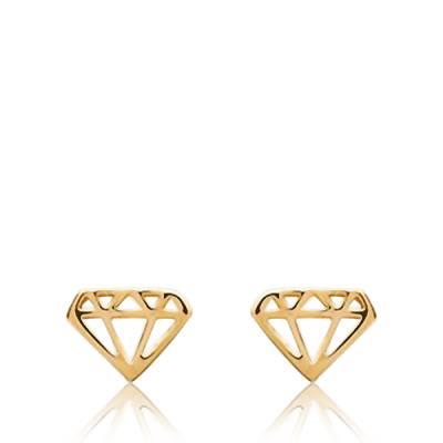 Boucles d'oreilles Plaqué Or Diamant Bee