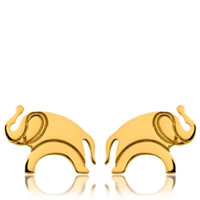 Boucles d'oreilles plaqué or Kenzo éléphant Lutet