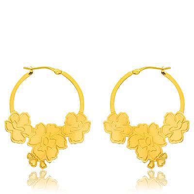 Boucles d'oreilles plaqué or Kenzo Ethel