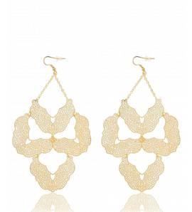 Boucles d'oreilles triangle d'or