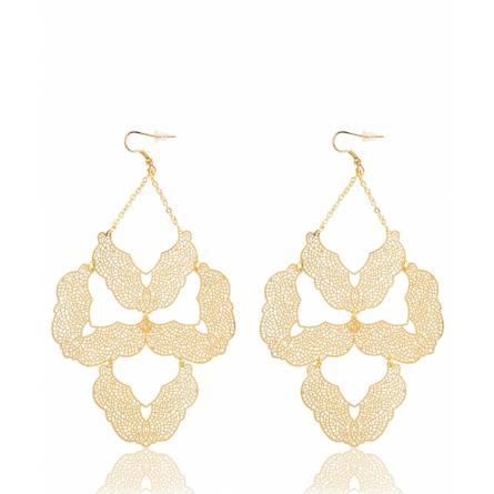 Boucles d'oreilles triangle doré