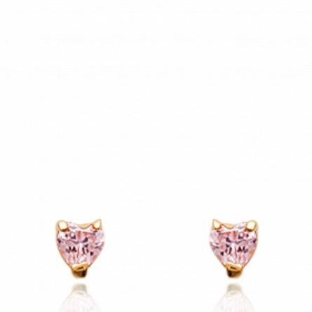 Boucles d'oreilles viraca rose
