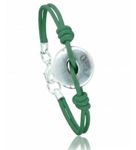 Bracciale donna tessuto Batista  verde