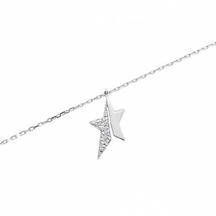 Bracelet acier étoile partagée Thierry Mugler