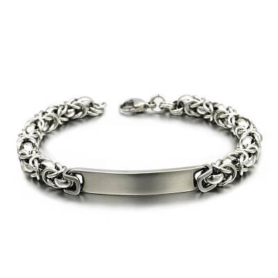 Bracelet acier gourmette