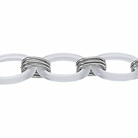Bracelet acier maille blanche Clyda Najiba
