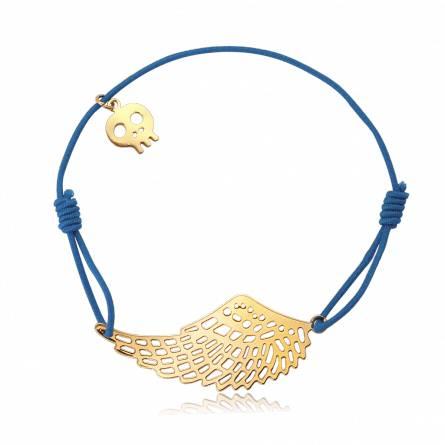 Bracelet élastique bleu aile Mota