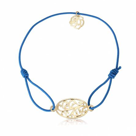 Bracelet élastique bleu florale Tramy