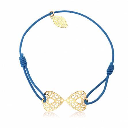 Bracelet élastique bleu papillon Ducatys