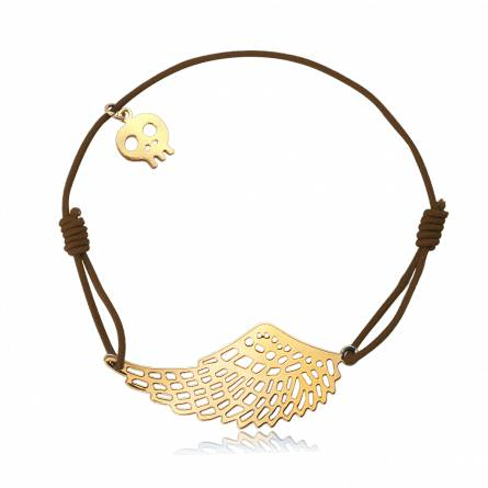 Bracelet élastique marron aile Lakyte