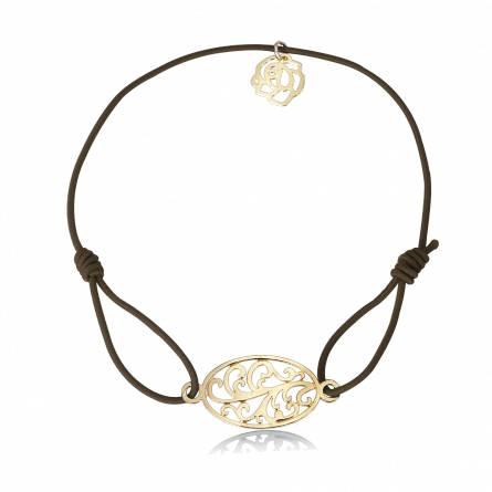 Bracelet élastique Marron florale Tramy