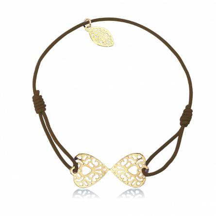 Bracelet élastique marron papillon Ducatys