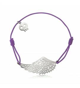 Bracelet élastique mauve aile Libertad