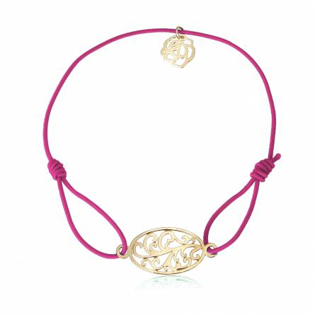 Bracelet élastique rose Floralys
