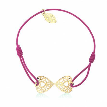 Bracelet élastique rose papillon Avantis